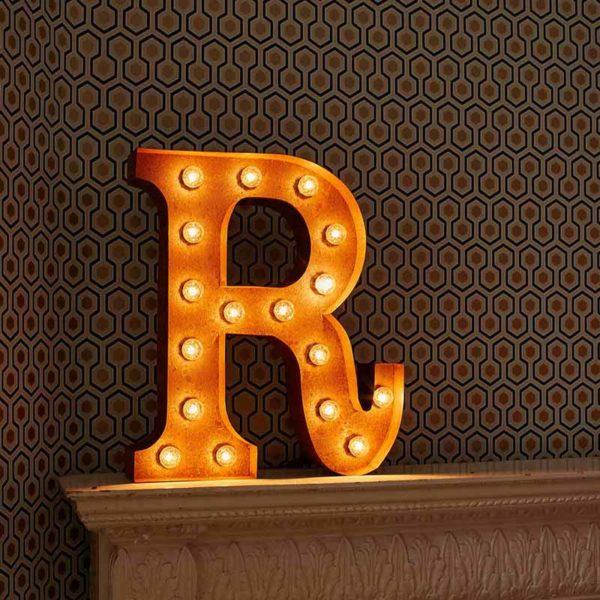 Vintage Letter Light R