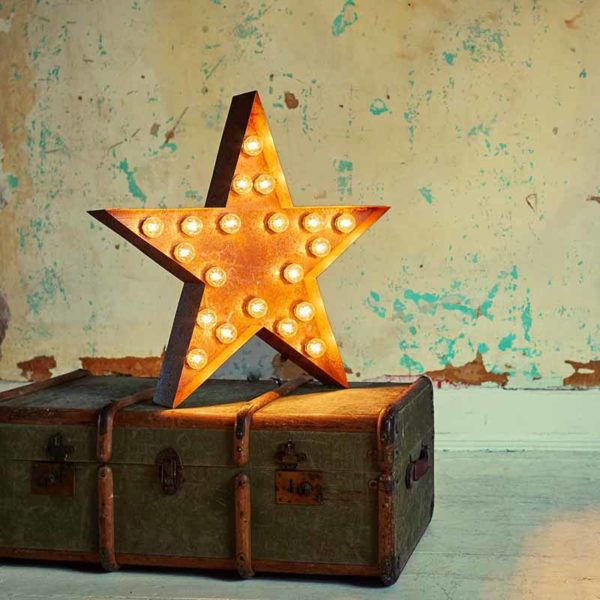 Vintage Letter Light Star