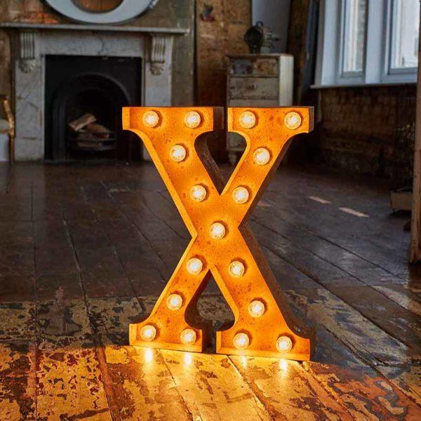 Vintage Letter Light X