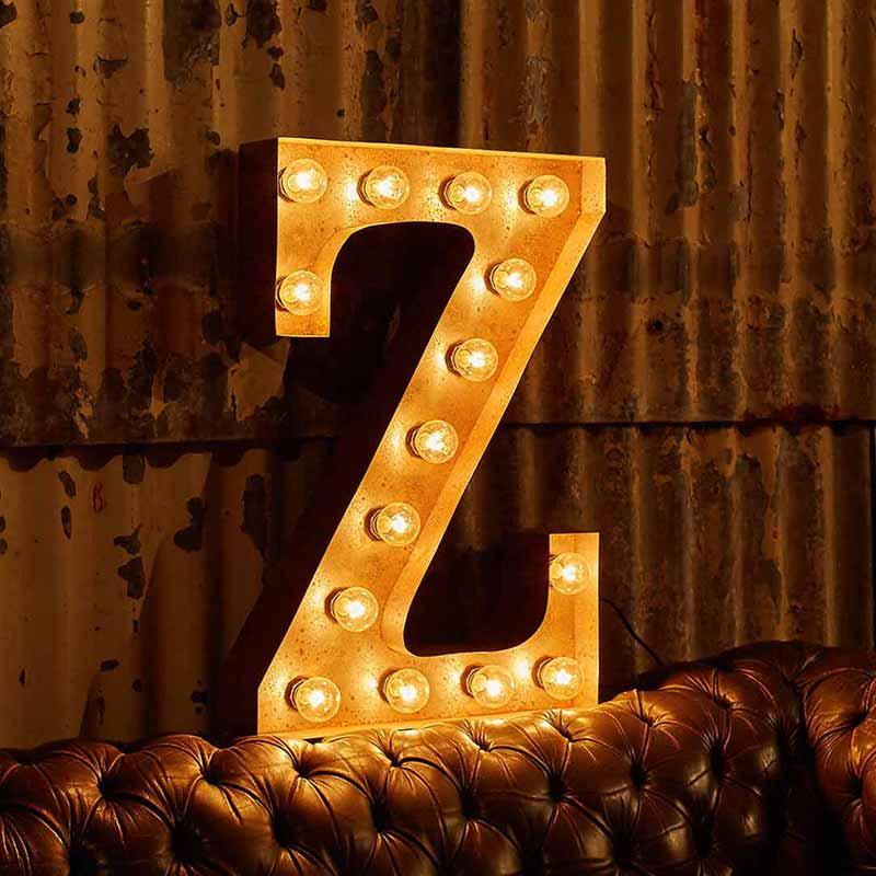 Vintage-Letter-Lights-Vintage-Letter-Light-Z-by-Vintage-Letter-Lights-1 Olson and Baker - Designer & Contemporary Sofas, Furniture - Olson and Baker showcases original designs from authentic, designer brands. Buy contemporary furniture, lighting, storage, sofas & chairs at Olson + Baker.