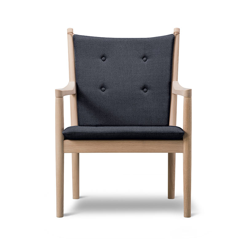 Fredericia 1788 Spoke-back Armchair by Hans Wegner Olson and Baker - Designer & Contemporary Sofas, Furniture - Olson and Baker showcases original designs from authentic, designer brands. Buy contemporary furniture, lighting, storage, sofas & chairs at Olson + Baker.