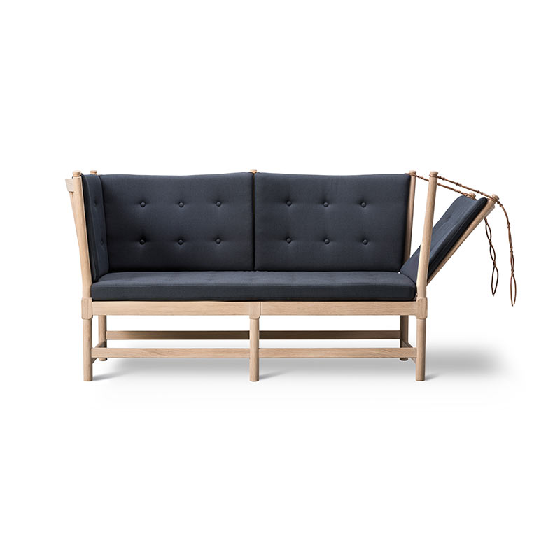 Fredericia 1789 Spoke-back Two Seat Sofa with Buttons by Hans Wegner Olson and Baker - Designer & Contemporary Sofas, Furniture - Olson and Baker showcases original designs from authentic, designer brands. Buy contemporary furniture, lighting, storage, sofas & chairs at Olson + Baker.