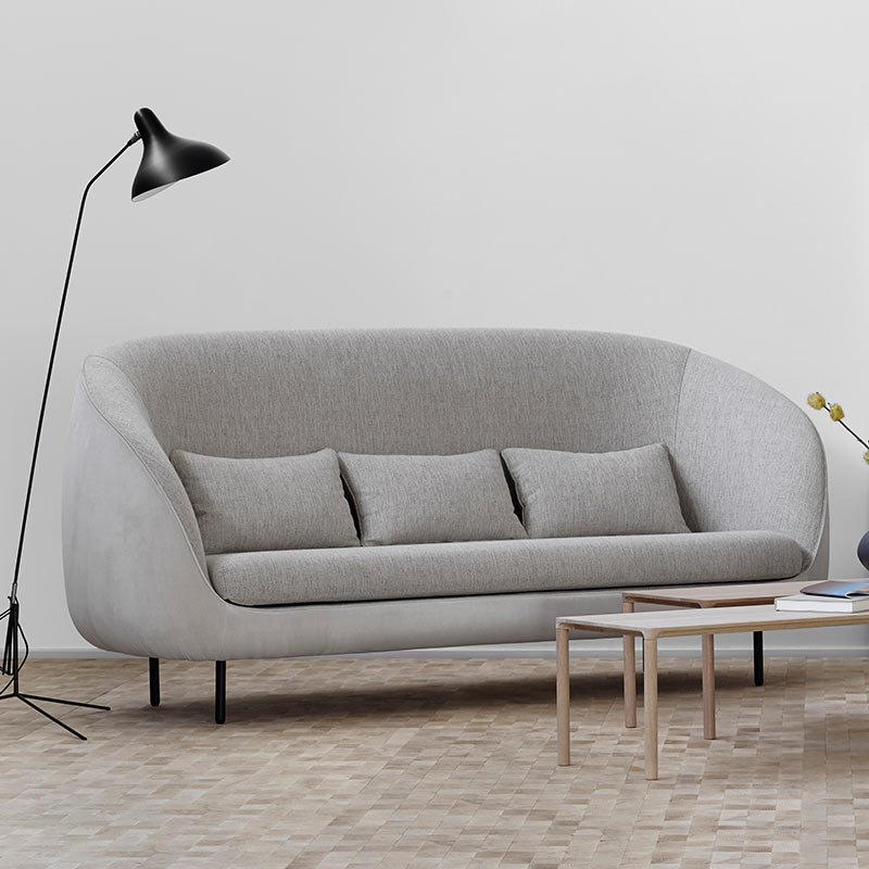 Fredericia Haiku Three Seat Sofa in 212 Harald & 112 Sonar by GamFratesi (3) Olson and Baker - Designer & Contemporary Sofas, Furniture - Olson and Baker showcases original designs from authentic, designer brands. Buy contemporary furniture, lighting, storage, sofas & chairs at Olson + Baker.