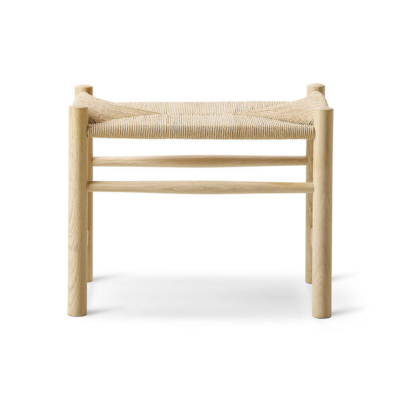 Fredericia J16 Foot Stool by Hans Wegner Olson and Baker - Designer & Contemporary Sofas, Furniture - Olson and Baker showcases original designs from authentic, designer brands. Buy contemporary furniture, lighting, storage, sofas & chairs at Olson + Baker.