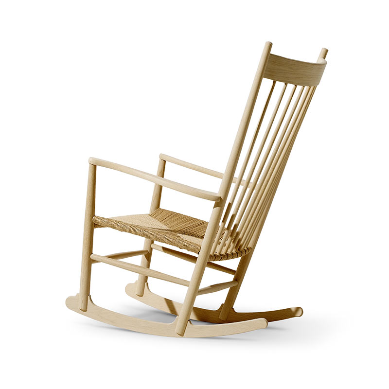 Fredericia J16 Rocking Chair in Natural paper cord by Hans Wegner (2) Olson and Baker - Designer & Contemporary Sofas, Furniture - Olson and Baker showcases original designs from authentic, designer brands. Buy contemporary furniture, lighting, storage, sofas & chairs at Olson + Baker.