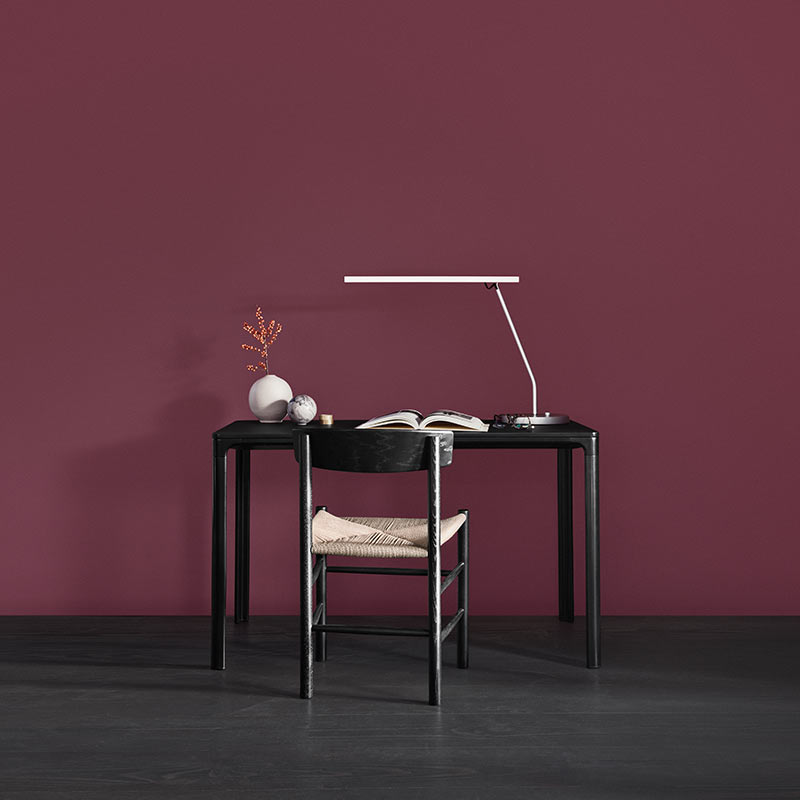 Fredericia J64 Chair in Lacquered beech by Ejvind Johansson Olson and Baker - Designer & Contemporary Sofas, Furniture - Olson and Baker showcases original designs from authentic, designer brands. Buy contemporary furniture, lighting, storage, sofas & chairs at Olson + Baker.