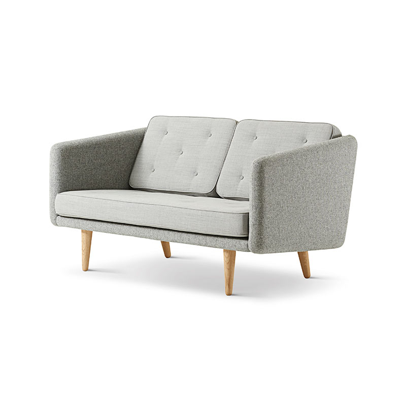 Fredericia No.1 Two Seat Sofa by Borge Mogensen Olson and Baker - Designer & Contemporary Sofas, Furniture - Olson and Baker showcases original designs from authentic, designer brands. Buy contemporary furniture, lighting, storage, sofas & chairs at Olson + Baker.