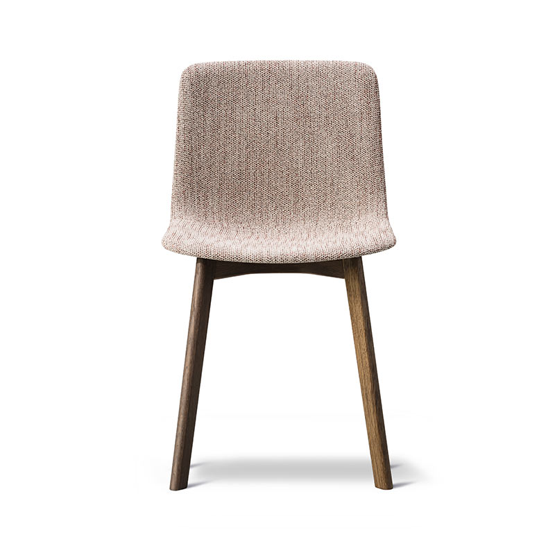 Fredericia Pato Fully Upholstered Chair with Wood Base by Gudmundur Ludvik,Hee Welling