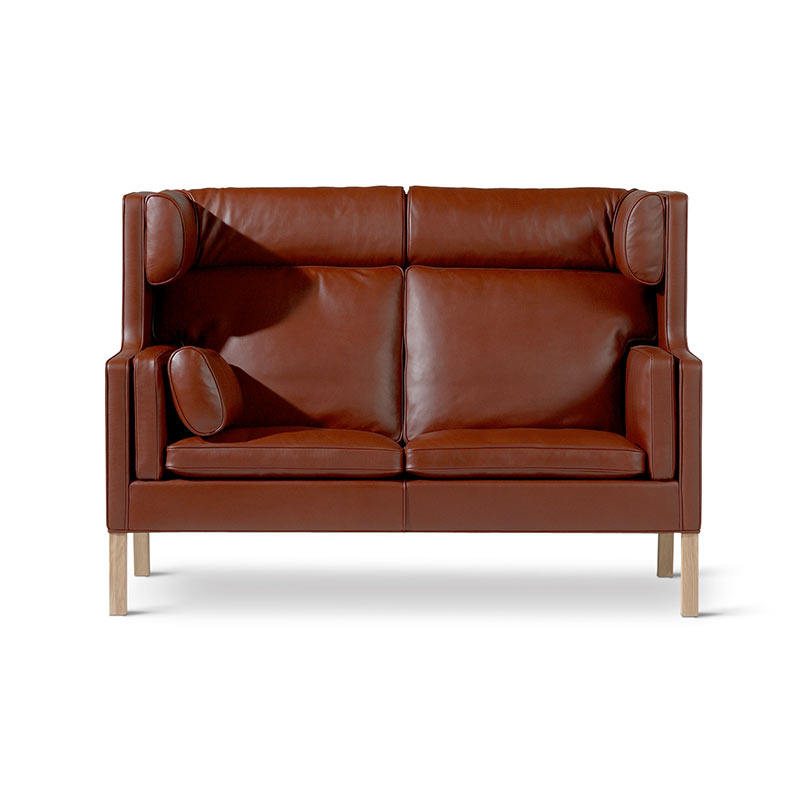 Fredericia Select 2192 Coupe Two Seat Sofa by Borge Mogensen Olson and Baker - Designer & Contemporary Sofas, Furniture - Olson and Baker showcases original designs from authentic, designer brands. Buy contemporary furniture, lighting, storage, sofas & chairs at Olson + Baker.