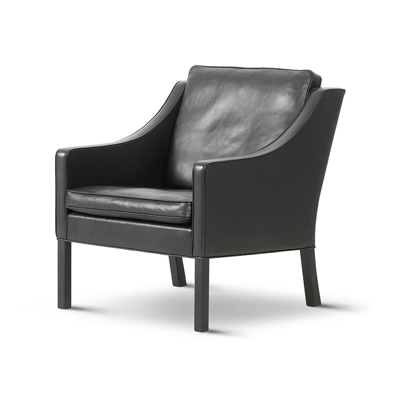 Fredericia Select 2207 Armchair in 88 Black semi aniline leather by Borge Mogensen (2) Olson and Baker - Designer & Contemporary Sofas, Furniture - Olson and Baker showcases original designs from authentic, designer brands. Buy contemporary furniture, lighting, storage, sofas & chairs at Olson + Baker.