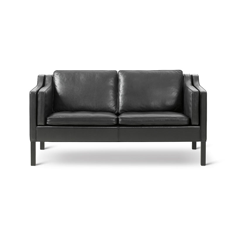 Fredericia Select 2212 Two Seat Sofa by Borge Mogensen Olson and Baker - Designer & Contemporary Sofas, Furniture - Olson and Baker showcases original designs from authentic, designer brands. Buy contemporary furniture, lighting, storage, sofas & chairs at Olson + Baker.