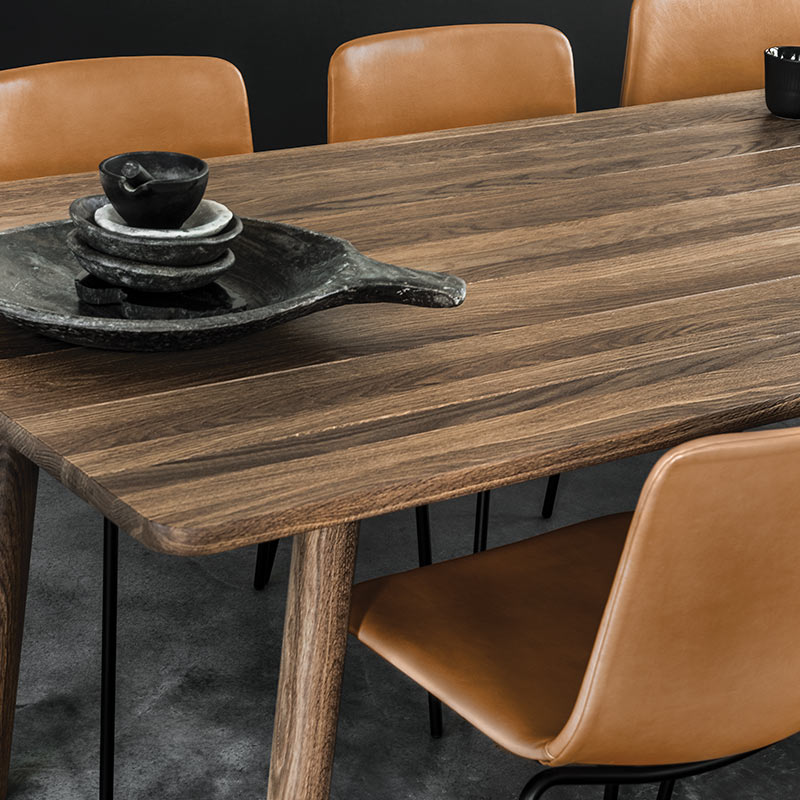 Fredericia Taro 220x93.5cm Dining Table with Milled Grooves in Smoke stained oak by Jasper Morrison (3) Olson and Baker - Designer & Contemporary Sofas, Furniture - Olson and Baker showcases original designs from authentic, designer brands. Buy contemporary furniture, lighting, storage, sofas & chairs at Olson + Baker.