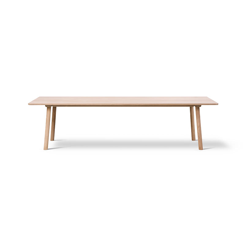Fredericia Taro 280x93.5cm Dining Table with Milled Grooves by Jasper Morrison Olson and Baker - Designer & Contemporary Sofas, Furniture - Olson and Baker showcases original designs from authentic, designer brands. Buy contemporary furniture, lighting, storage, sofas & chairs at Olson + Baker.