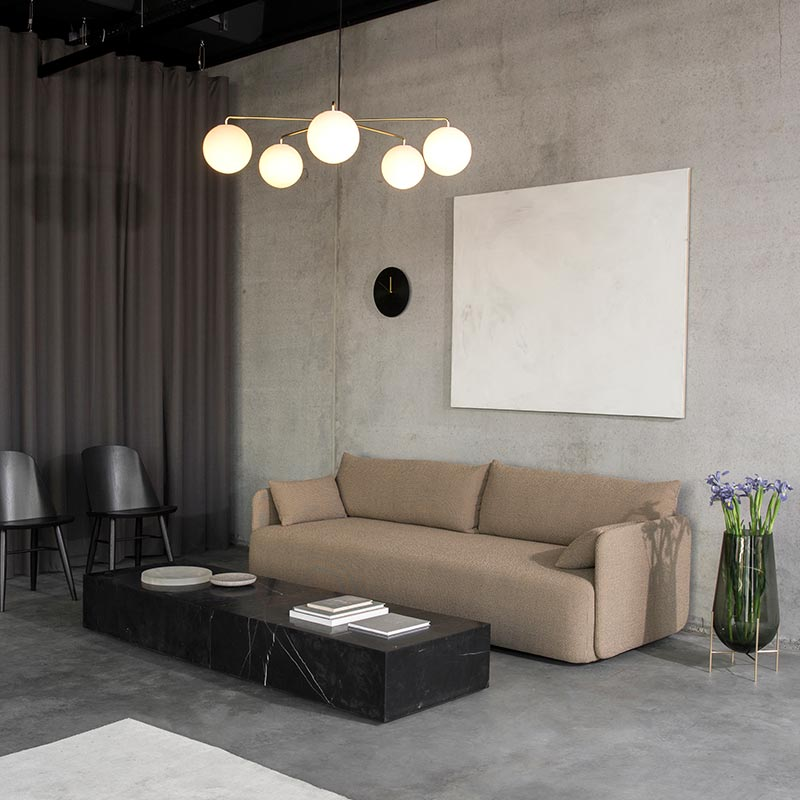 Menu Offset Three Seat Sofa by Norm Architects (3) Olson and Baker - Designer & Contemporary Sofas, Furniture - Olson and Baker showcases original designs from authentic, designer brands. Buy contemporary furniture, lighting, storage, sofas & chairs at Olson + Baker.