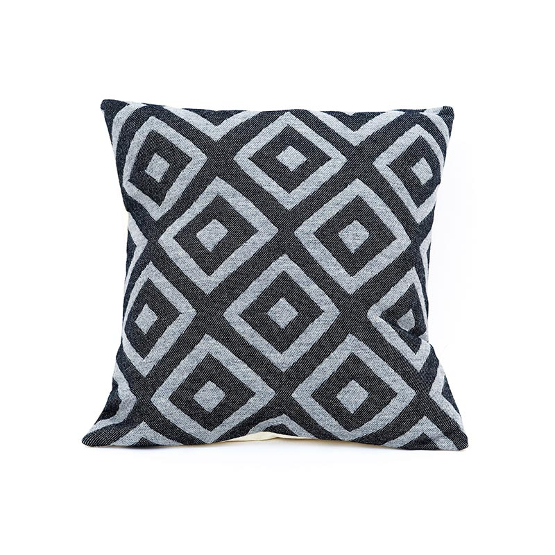 Tori Murphy Broadway Cushion Charcoal on Black by Tori Murphy Olson and Baker - Designer & Contemporary Sofas, Furniture - Olson and Baker showcases original designs from authentic, designer brands. Buy contemporary furniture, lighting, storage, sofas & chairs at Olson + Baker.
