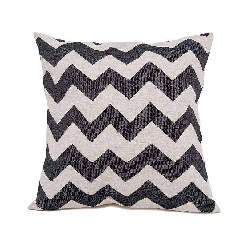Tori Murphy Chevy Cushion Black on Linen by Tori Murphy