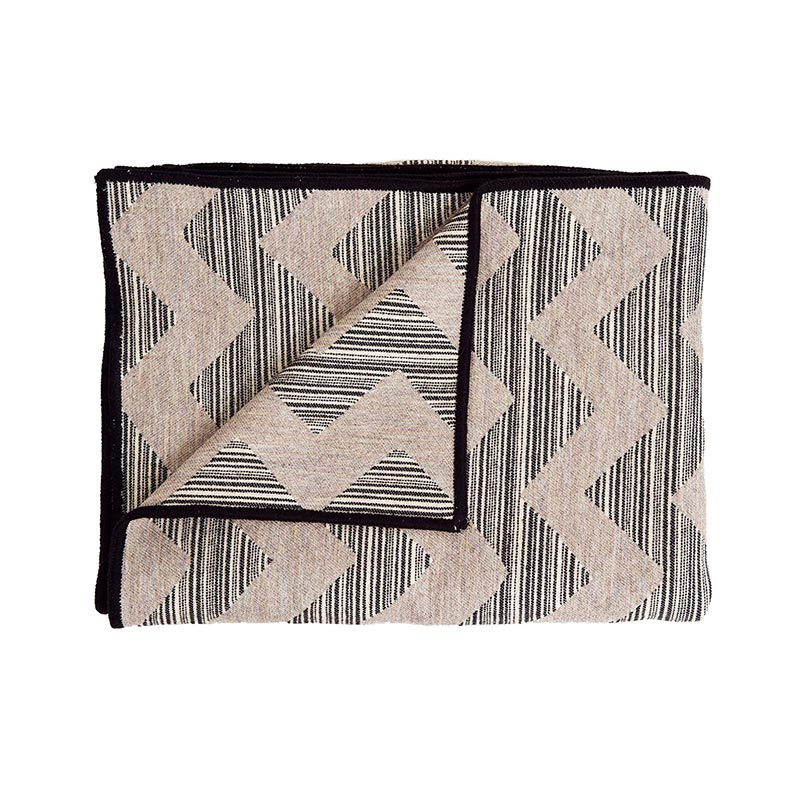 Tori Murphy Chevy Strie' Throw Black on Pearl & Linen by Tori Murphy
