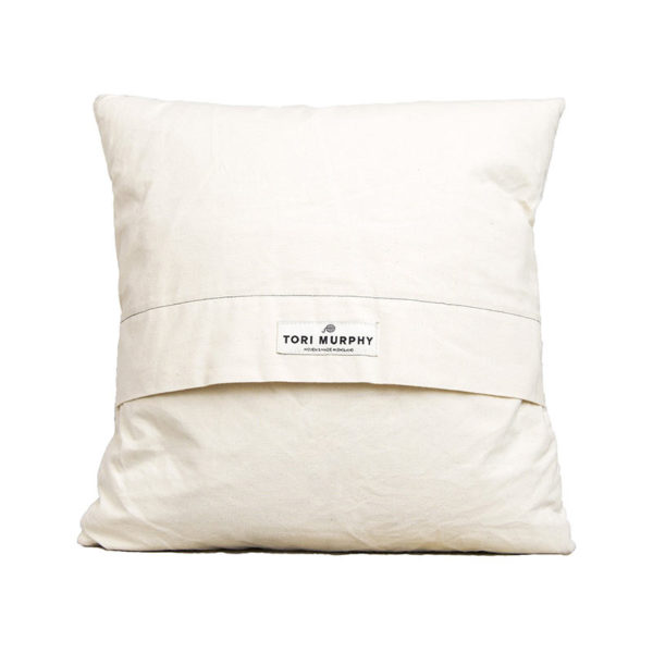 Kensal Check Cushion Black on Linen
