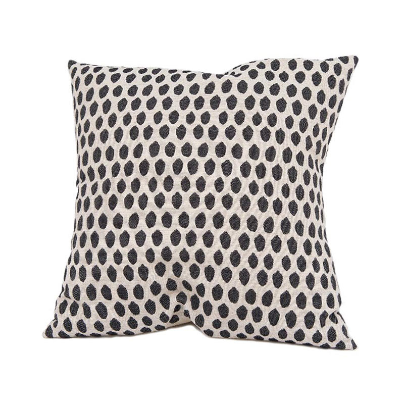 Tori Murphy Elca Cushion Black on Linen by Tori Murphy