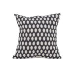 Tori Murphy Elca Cushion Linen on Black by Tori Murphy Olson and Baker - Designer & Contemporary Sofas, Furniture - Olson and Baker showcases original designs from authentic, designer brands. Buy contemporary furniture, lighting, storage, sofas & chairs at Olson + Baker.