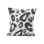 Tori Murphy Hamilton Large Spot Cushion Black on Linen by Tori Murphy Olson and Baker - Designer & Contemporary Sofas, Furniture - Olson and Baker showcases original designs from authentic, designer brands. Buy contemporary furniture, lighting, storage, sofas & chairs at Olson + Baker.
