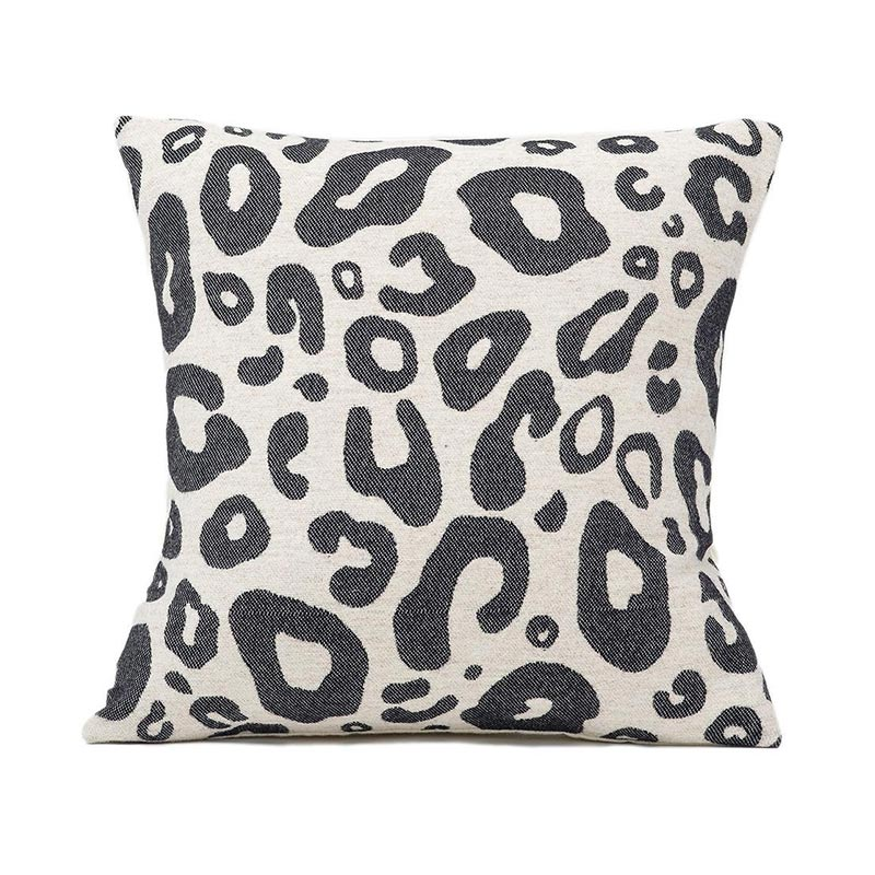 Tori Murphy Hamilton Large Spot Cushion Black on Linen by Tori Murphy