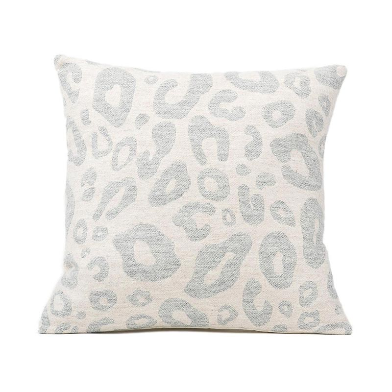 Tori Murphy Hamilton Large Spot Cushion Grey on Linen by Tori Murphy