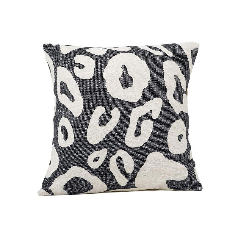 Tori Murphy Hamilton Large Spot Cushion Linen on Black by Tori Murphy Olson and Baker - Designer & Contemporary Sofas, Furniture - Olson and Baker showcases original designs from authentic, designer brands. Buy contemporary furniture, lighting, storage, sofas & chairs at Olson + Baker.