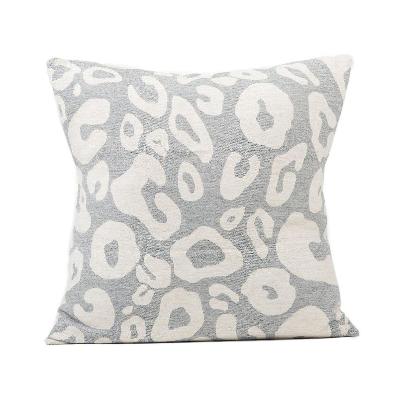 Tori Murphy Hamilton Large Spot Cushion Linen on Grey by Tori Murphy Olson and Baker - Designer & Contemporary Sofas, Furniture - Olson and Baker showcases original designs from authentic, designer brands. Buy contemporary furniture, lighting, storage, sofas & chairs at Olson + Baker.