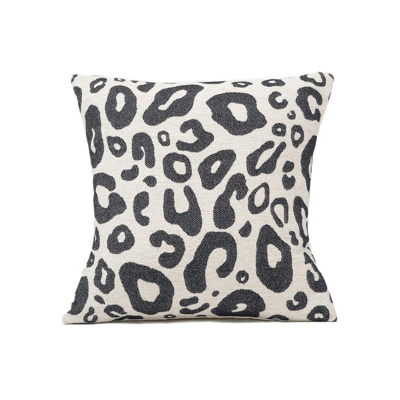 Tori Murphy Hamilton Small Spot Cushion Black on Linen by Tori Murphy Olson and Baker - Designer & Contemporary Sofas, Furniture - Olson and Baker showcases original designs from authentic, designer brands. Buy contemporary furniture, lighting, storage, sofas & chairs at Olson + Baker.