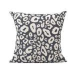Tori Murphy Hamilton Small Spot Cushion Linen on Black by Tori Murphy Olson and Baker - Designer & Contemporary Sofas, Furniture - Olson and Baker showcases original designs from authentic, designer brands. Buy contemporary furniture, lighting, storage, sofas & chairs at Olson + Baker.