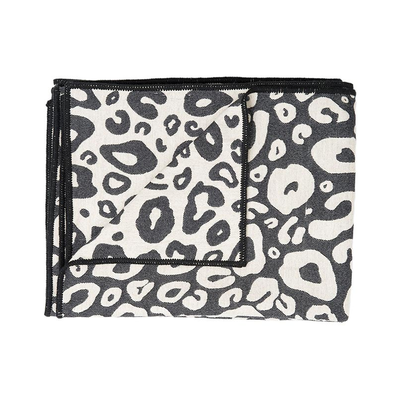 Tori Murphy Hamilton Spot Throw Black and Linen by Tori Murphy