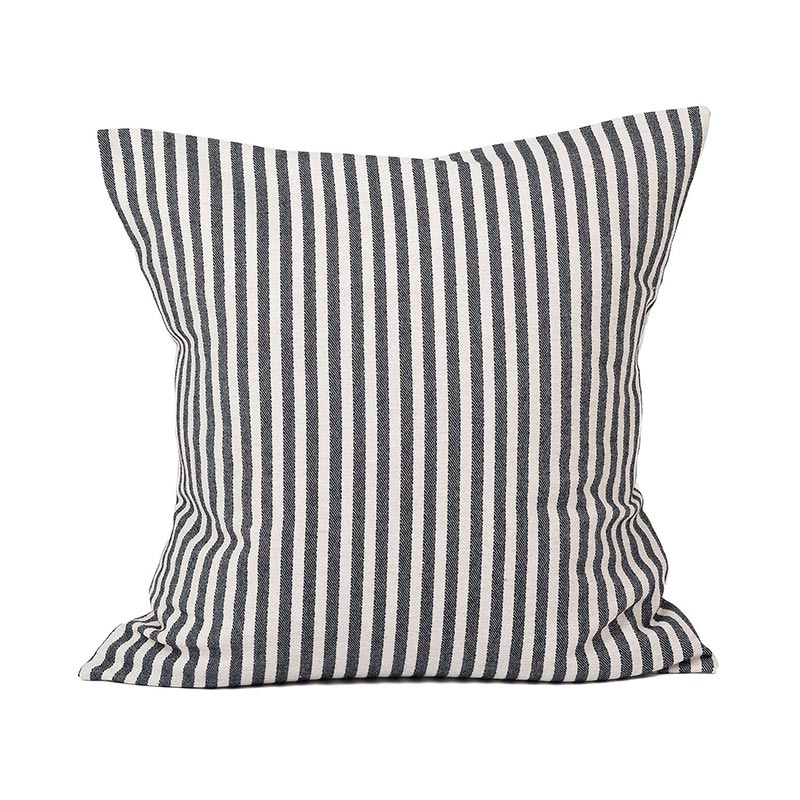 Tori Murphy Harbour Stripe Cushion Graphite & Ecru by Tori Murphy