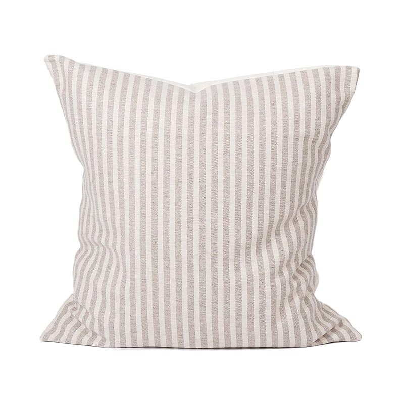 Tori Murphy Harbour Stripe Cushion Mushroom & Ecru by Tori Murphy