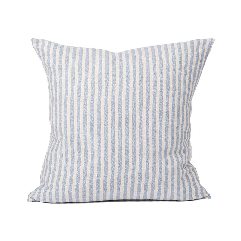 Tori Murphy Harbour Stripe Cushion Smoke & Ecru by Tori Murphy Olson and Baker - Designer & Contemporary Sofas, Furniture - Olson and Baker showcases original designs from authentic, designer brands. Buy contemporary furniture, lighting, storage, sofas & chairs at Olson + Baker.