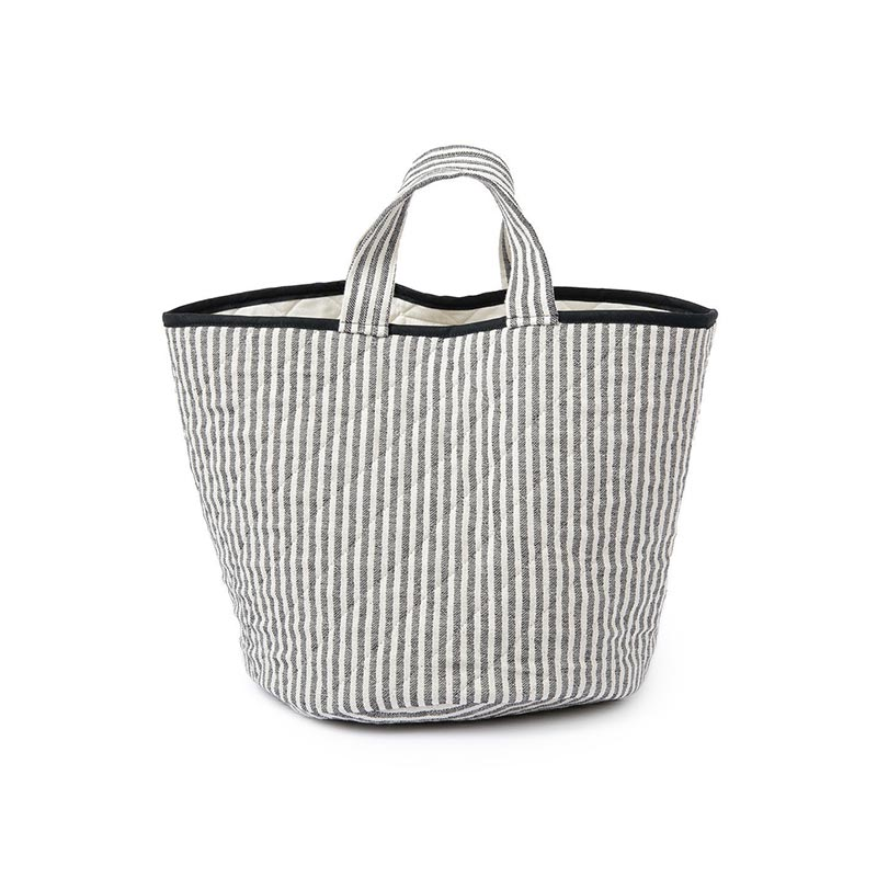 Tori Murphy Harbour Stripe Storage Basket Black by Tori Murphy Olson and Baker - Designer & Contemporary Sofas, Furniture - Olson and Baker showcases original designs from authentic, designer brands. Buy contemporary furniture, lighting, storage, sofas & chairs at Olson + Baker.