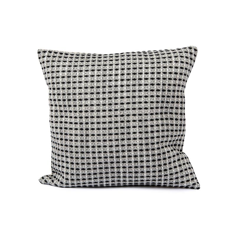 Tori Murphy Holkham Waffle Cushion Black by Tori Murphy Olson and Baker - Designer & Contemporary Sofas, Furniture - Olson and Baker showcases original designs from authentic, designer brands. Buy contemporary furniture, lighting, storage, sofas & chairs at Olson + Baker.