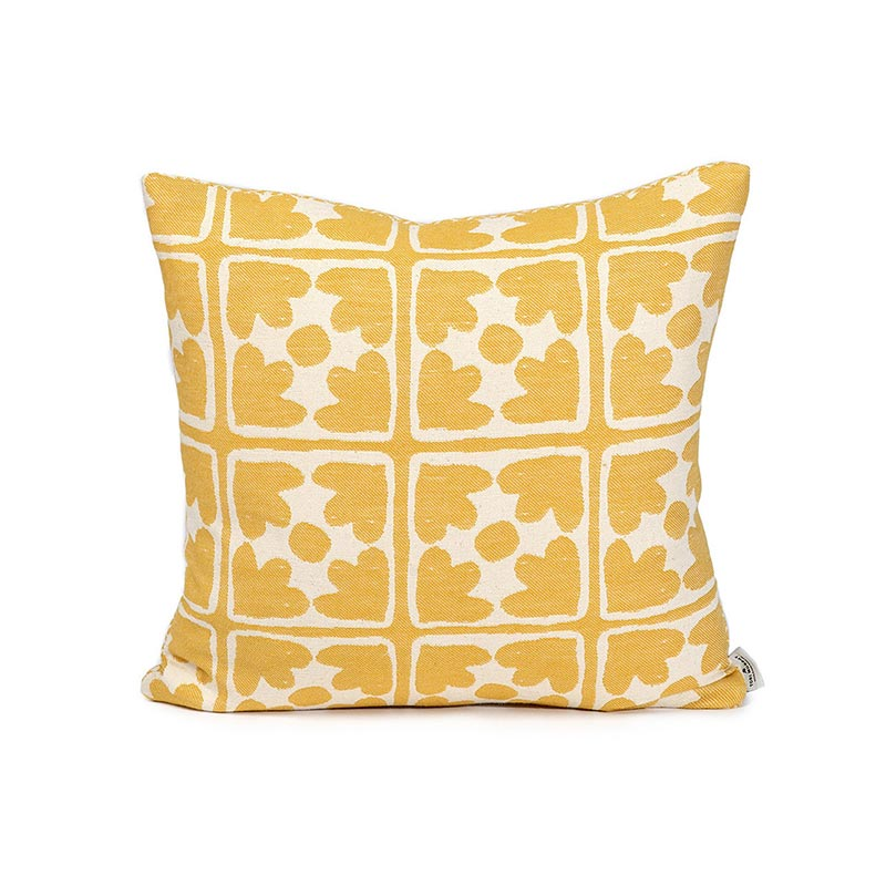 Tori Murphy Seedling & Bloom Cushion Mustard by Tori Murphy Olson and Baker - Designer & Contemporary Sofas, Furniture - Olson and Baker showcases original designs from authentic, designer brands. Buy contemporary furniture, lighting, storage, sofas & chairs at Olson + Baker.