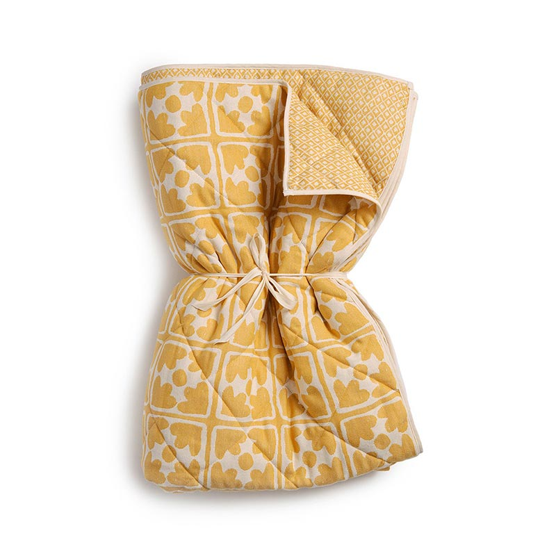 Tori Murphy Seedling & Bloom Quilt Mustard by Tori Murphy