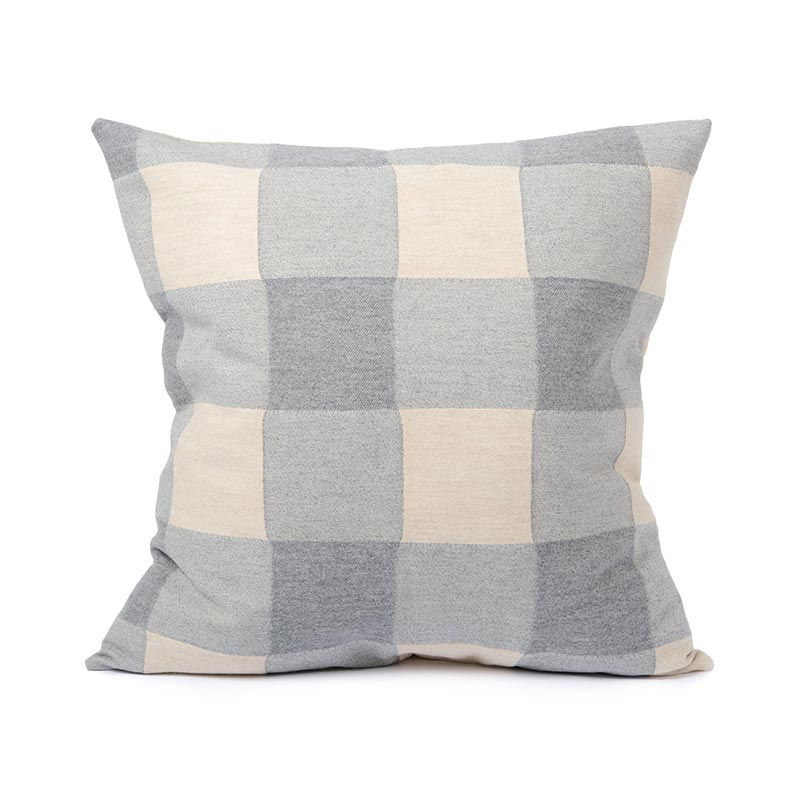 Tori Murphy Woodhouse Check Cushion Grey by Tori Murphy