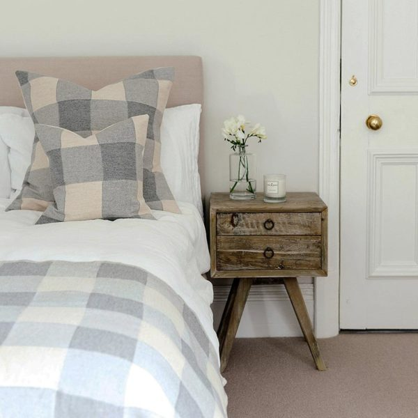 Woodhouse Check Cushion Grey