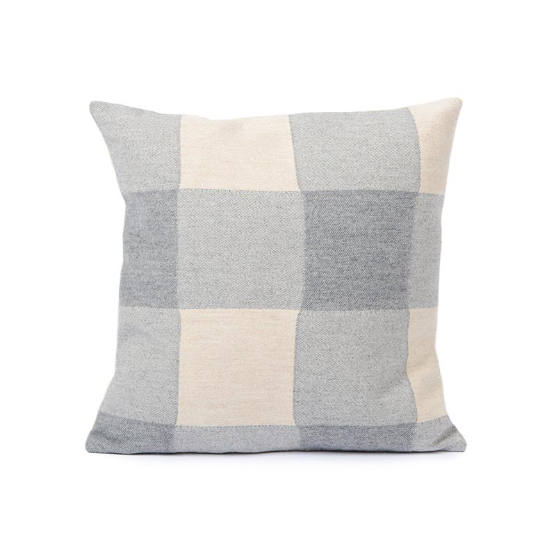 Tori Murphy Woodhouse Check Cushion Grey by Tori Murphy Olson and Baker - Designer & Contemporary Sofas, Furniture - Olson and Baker showcases original designs from authentic, designer brands. Buy contemporary furniture, lighting, storage, sofas & chairs at Olson + Baker.