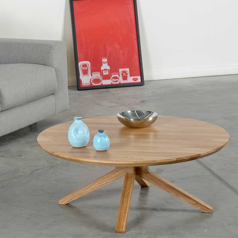 Case-Furniture-Cross-Round-Coffee-Table-by-Matthew-Hilton-1 Olson and Baker - Designer & Contemporary Sofas, Furniture - Olson and Baker showcases original designs from authentic, designer brands. Buy contemporary furniture, lighting, storage, sofas & chairs at Olson + Baker.