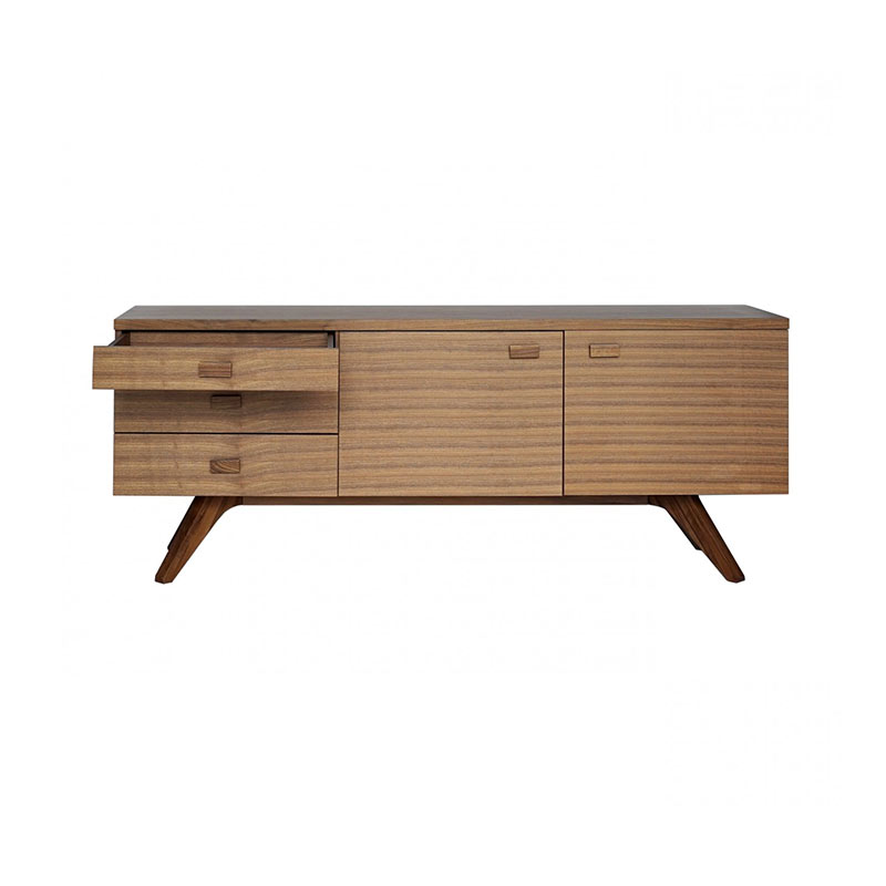 Case Furniture Cross Sideboard by Matthew Hilton Olson and Baker - Designer & Contemporary Sofas, Furniture - Olson and Baker showcases original designs from authentic, designer brands. Buy contemporary furniture, lighting, storage, sofas & chairs at Olson + Baker.