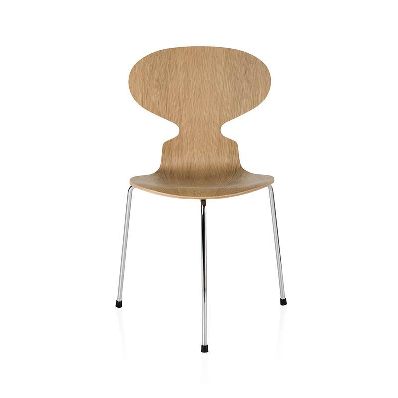 Fritz Hansen Ant Chair with Three Legs in Natural Veneer by Arne Jacobsen