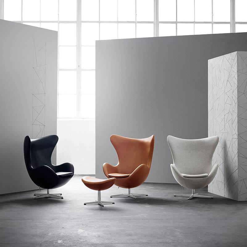 Fritz-Hansen-Egg-Chair-by-Arne-Jacobsen-2-1 Olson and Baker - Designer & Contemporary Sofas, Furniture - Olson and Baker showcases original designs from authentic, designer brands. Buy contemporary furniture, lighting, storage, sofas & chairs at Olson + Baker.