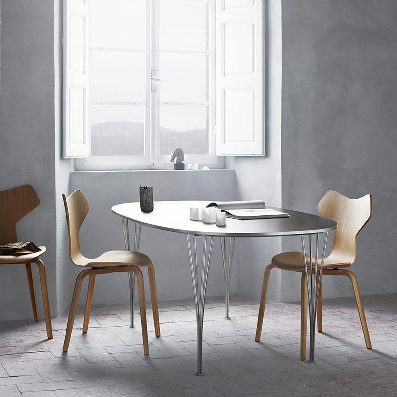 Fritz-Hansen-Grand-Prix-Chair-with-Wood-Legs-by-Arne-Jacobsen-2 Olson and Baker - Designer & Contemporary Sofas, Furniture - Olson and Baker showcases original designs from authentic, designer brands. Buy contemporary furniture, lighting, storage, sofas & chairs at Olson + Baker.