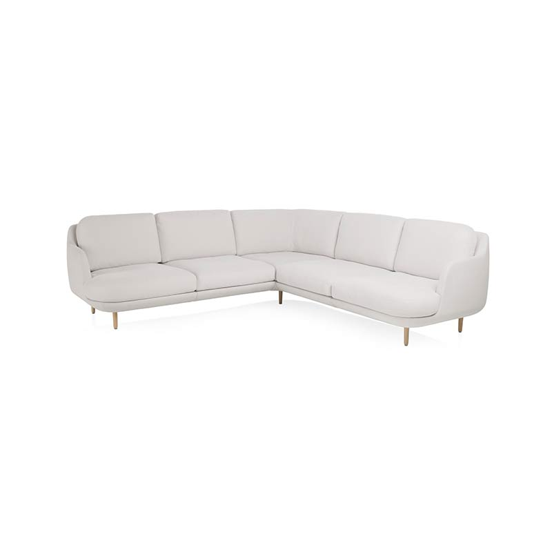 Fritz Hansen Lune Right Hand Facing Corner Sofa by Jaime Hayon Olson and Baker - Designer & Contemporary Sofas, Furniture - Olson and Baker showcases original designs from authentic, designer brands. Buy contemporary furniture, lighting, storage, sofas & chairs at Olson + Baker.