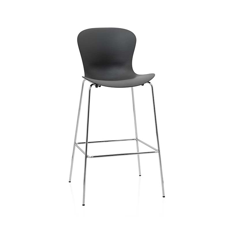 Fritz Hansen NAP High Bar Stool by Kasper Salto Olson and Baker - Designer & Contemporary Sofas, Furniture - Olson and Baker showcases original designs from authentic, designer brands. Buy contemporary furniture, lighting, storage, sofas & chairs at Olson + Baker.