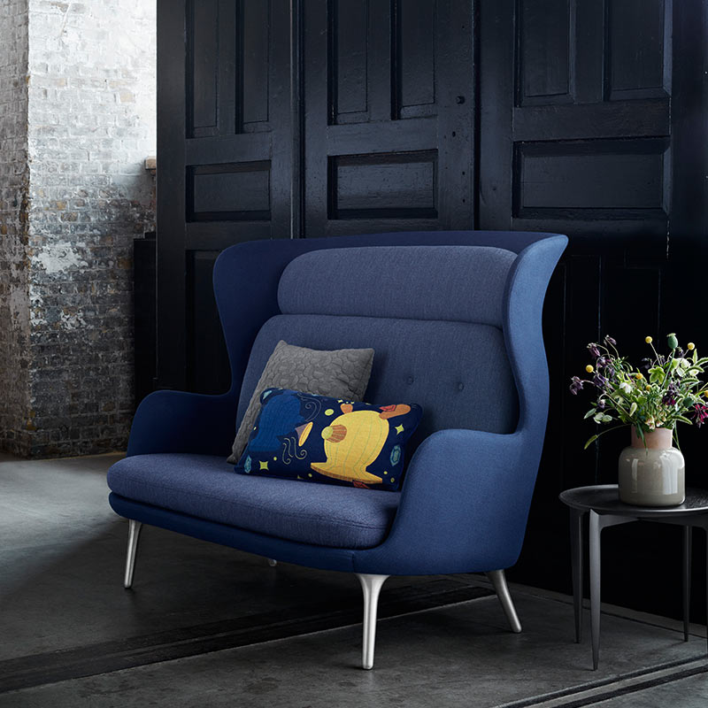 Fritz Hansen Ro Two Seat Sofa by Jaime Hayon (9) Olson and Baker - Designer & Contemporary Sofas, Furniture - Olson and Baker showcases original designs from authentic, designer brands. Buy contemporary furniture, lighting, storage, sofas & chairs at Olson + Baker.